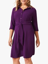 Studio 8 Monty Tie Waist Shirt Dress, Purple
