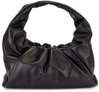 Bottega Veneta Small Shoulder Bag in Black & Silver   FWRD