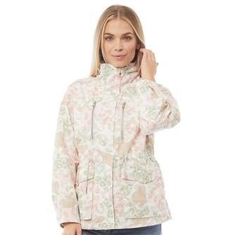 Converse Womens Printed Cotton Utility Jacket White
