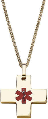 FINE JEWELRY Personalized Medical ID Cross Pendant Necklace