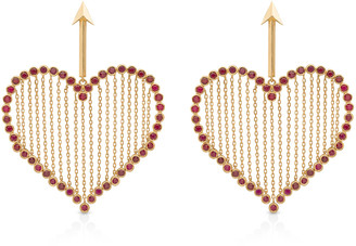 Aisha Baker Cupid 18K Gold And Ruby Earrings