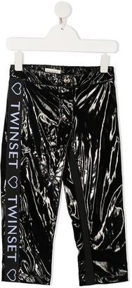 Twin-Set Side Logo Stripe Trousers
