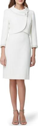 Tahari Imitation Pearl Jacket & Sheath Dress