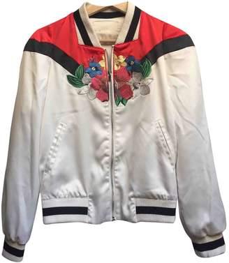 Maje Spring Summer 2018 White Silk Jackets