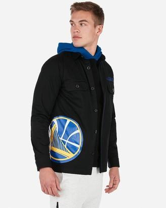 Express Golden State Warriors Nba Twill Shirt Jacket