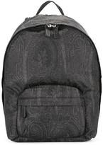 Etro tonal print backpack - men - Calf Leather/Nylon - One Size