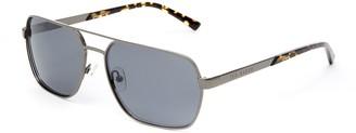 Ted Baker 59mm Metal Navigator Polarized Sunglasses