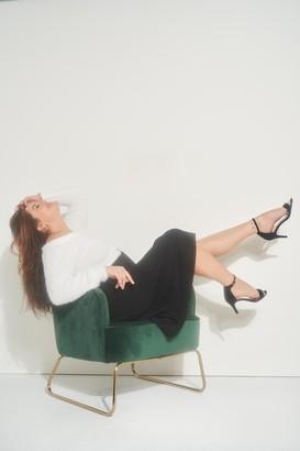 Ardene Plus Size Pleated Midi Skirt