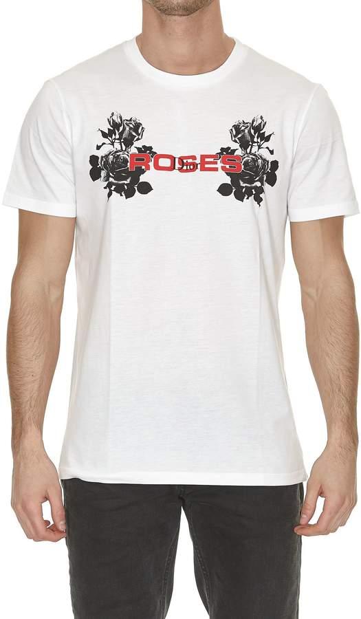 Christian Dior Roses Print Tshirt