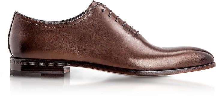 Moreschi Montreal Brown Antiqued Calfskin Oxford Shoes