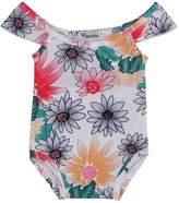 EasonJ Baby Girls Swimwear Daisy One-piece Swimsuit Beach Wear (3-4T)