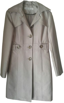 Kenneth Cole Beige Cotton Trench Coat for Women