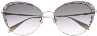 Alexander McQueen Eyewear Studded Cat-Eye Sunglasses
