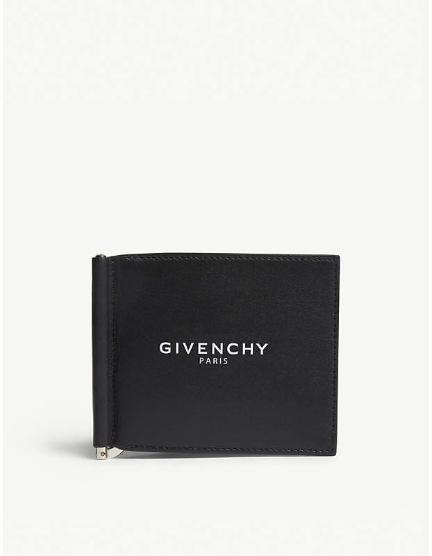 Givenchy Logo leather billfold money clip