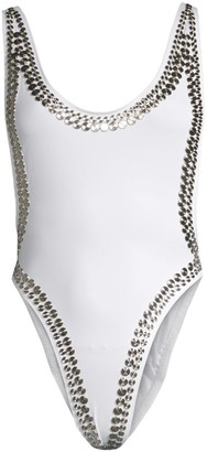Norma Kamali Marissa Stud One-Piece Swimsuit