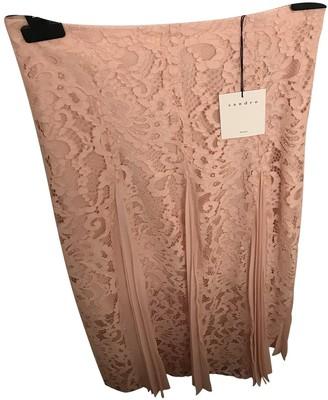 Sandro Spring Summer 2018 Pink Cotton Skirt for Women
