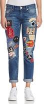 True Religion Audrey Patched Slim Boyfriend Jeans in Coron