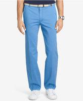 Izod Men's Performance Straight-Fit Flat Front Cotton Pants