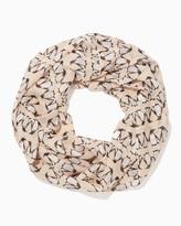 Charming charlie Tuxedo Penquin Print Infinity Scarf