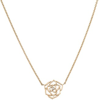 Piaget Rose Gold and Diamond Rose Pendant Necklace