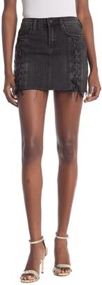 Blanknyc Denim Lace-Up Denim Mini Skirt