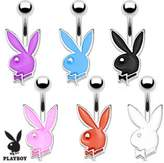 Playboy Bunny 316L Surgical Steel 16G Petite Navel Ring (Sold by Piece)