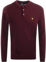 Lyle & Scott Long Sleeve Polo Jumper Burgundy