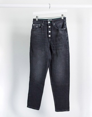 Tommy Jeans mom jean in black