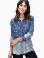 Splendid Chambray Polka Dot Hilo Shirt