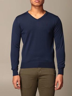 Brooksfield Crewneck Sweater In Merino Wool