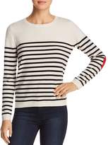 Kate Spade Heart-Patch Striped Sweater