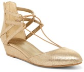 Kenneth Cole Reaction Why Not Reptile-Embossed Wedge Lace Sandal