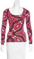 Emilio Pucci Polka Dot Print Scoop Neck T-Shirt