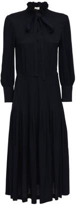 Saint Laurent Silk Jacquard Midi Dress