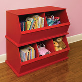 Badger Basket Three Bin Storage Cubby in Red