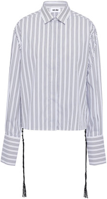 Each X Other Striped Cotton-blend Poplin Shirt