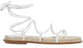 Paul Andrew Lace-up Leather Espadrille Sandals