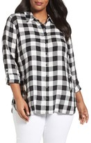 Sejour Plus Size Women's Plaid Tunic
