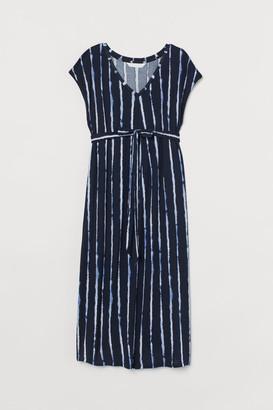 H&M H&M+ Tie-belt Dress - Blue