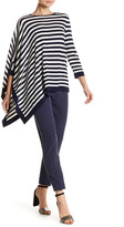 Anne Klein Asymmetrical Striped Sweater