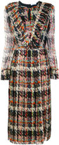 Blumarine pleated printed dress