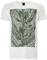 Scotch & Soda Hydrus Leaf Print T-shirt, Ecru