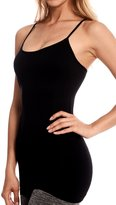 Level 33 Women's Stretch Camisole Tank Top with Lace Trim Black One
