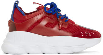 Versace Red Chain Reaction Sneakers