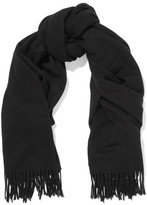 Acne Studios Canada Fringed Wool Scarf - Black