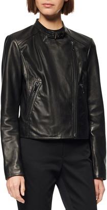 Andrew Marc Wheeland Lambskin Moto Jacket