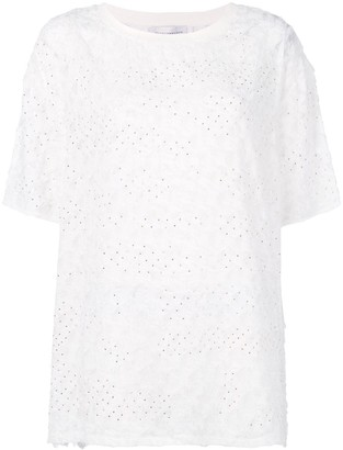 Faith Connexion feather embellished T-shirt