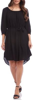Karen Kane Belted Quarter Sleeve Dress