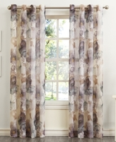 "Lichtenberg Lichtenberg No. 918 Andorra 51"" x 84"" Crushed Voile Floral Watercolor Grommet Curtain Panel"