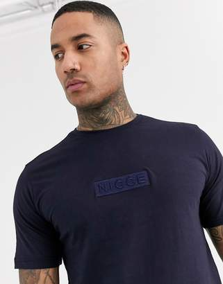 Nicce t-shirt with embroidered logo in navy